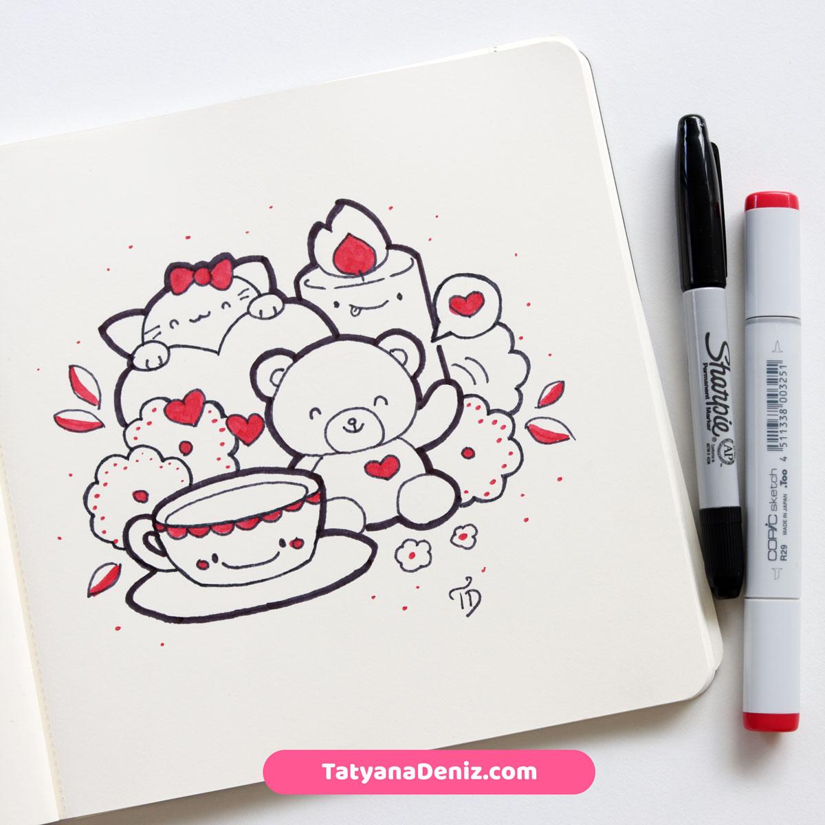 Kawaii doodle by Tatyana Deniz