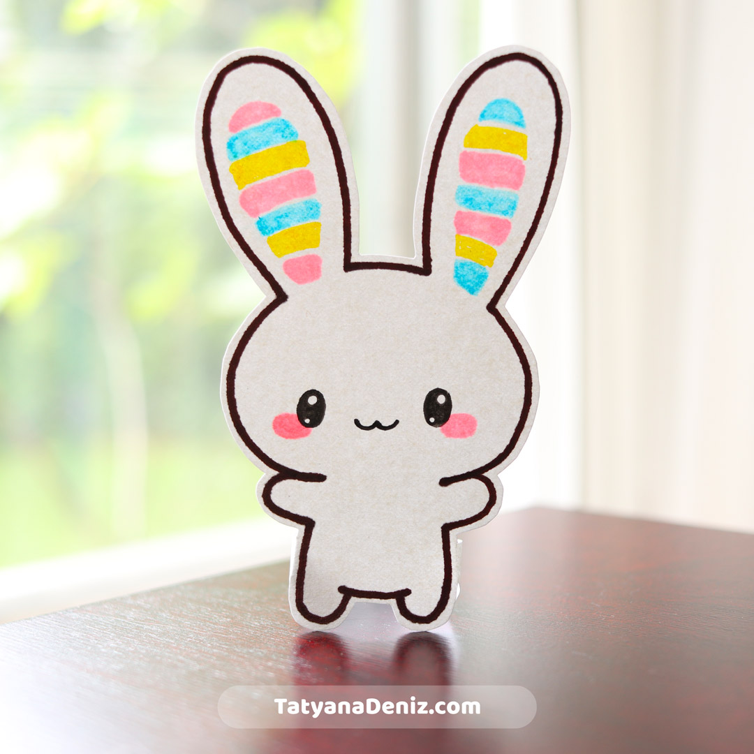 Kawaii bunny drawing tutorial by Tatyana Deniz