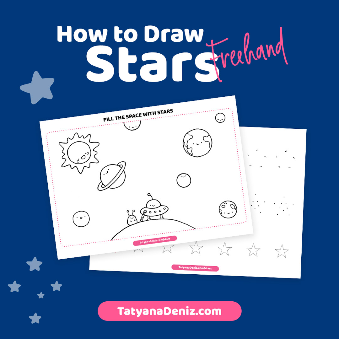 How to draw a star drawing tutorial