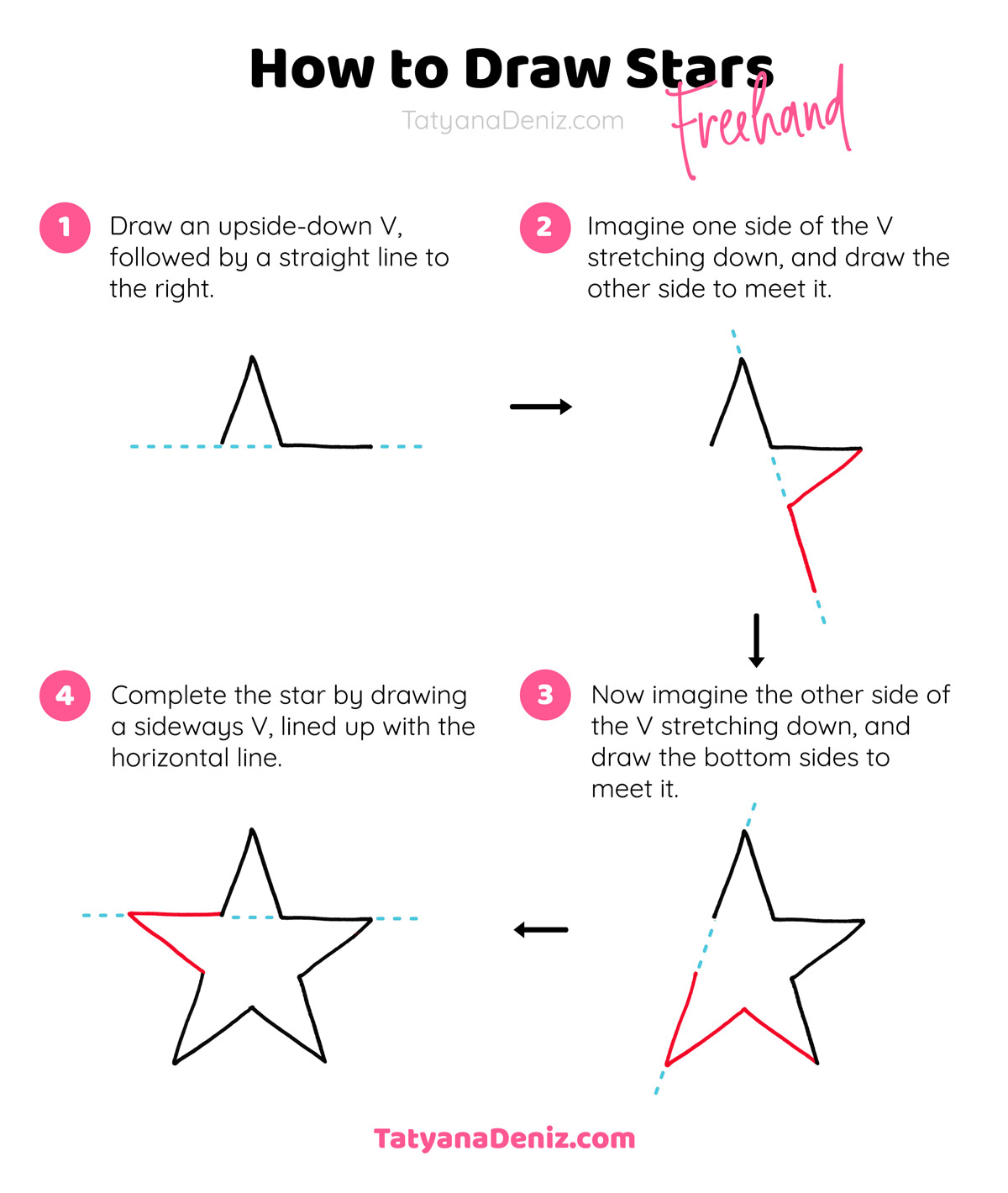 How to draw a star step-by-step drawing tutorial