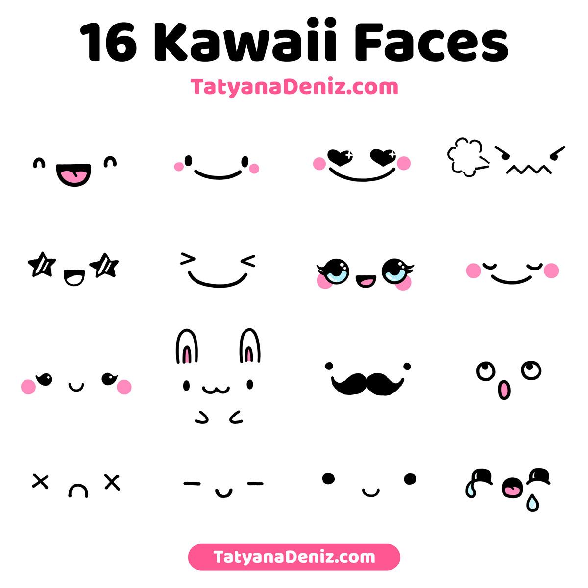 Kawaii faces and expressions