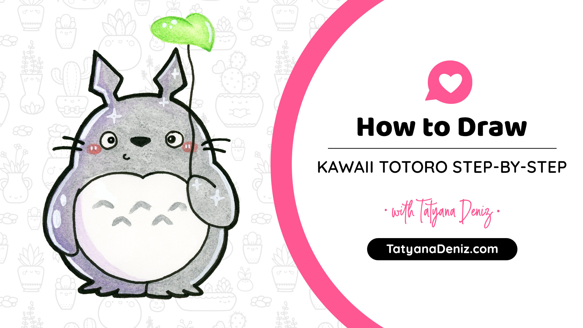 How to Draw Kawaii Totoro Step-by-step with Tatyana Deniz