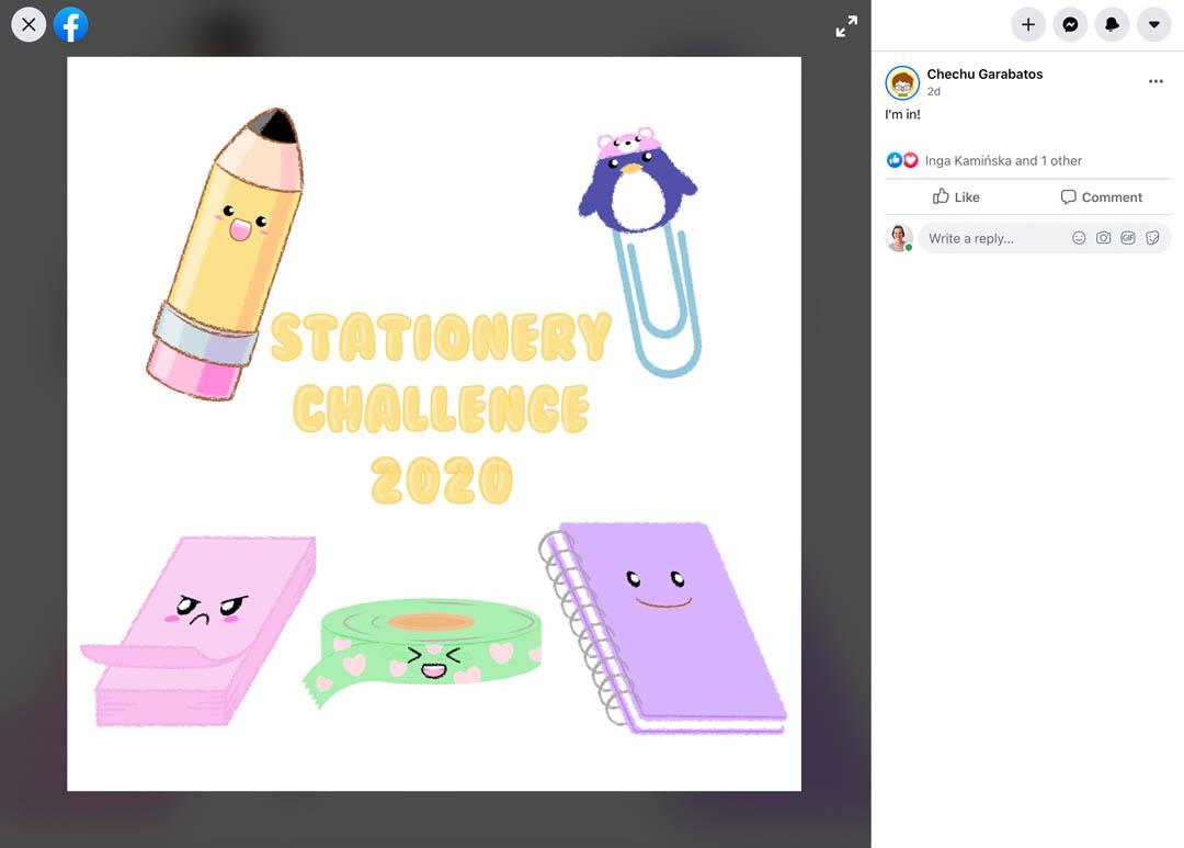 Kawaii Stationery Challenge Entry 12