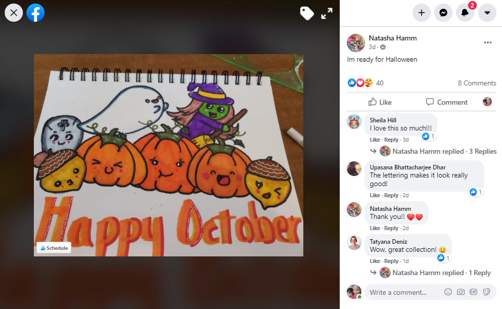 Student gallery Halloween pumpkin doodle