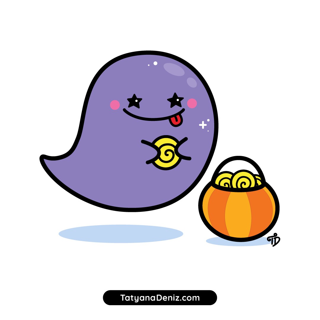 How to draw a cute Halloween ghost with easy step-by-step drawing tutorial